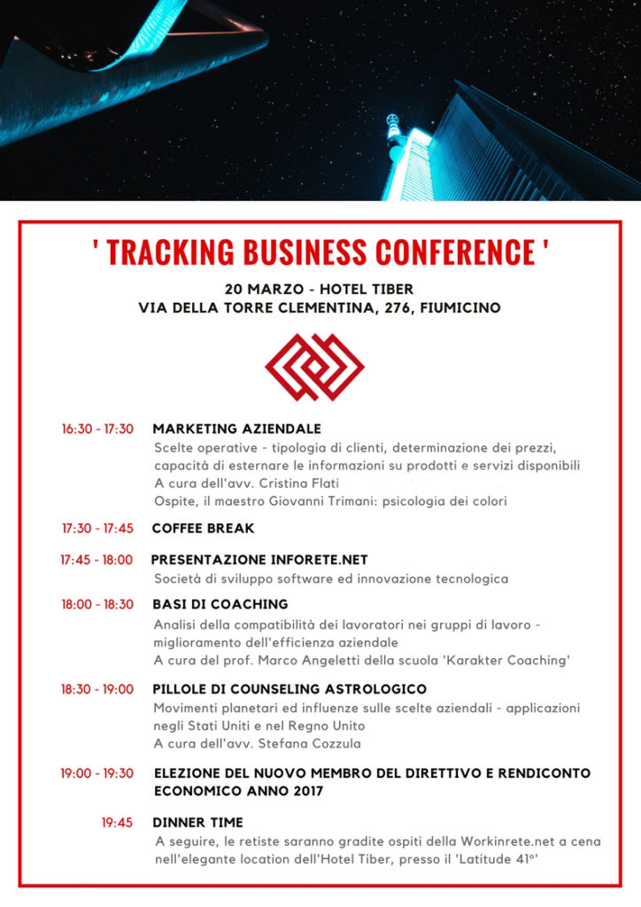 Tracking business conference workinrete
